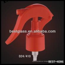 Gatillo plástico de las botellas del champú 24/410, disparadores cosméticos del rociador de las botellas, rociador de la bomba del perfume