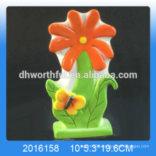Excellent design ceramic flower humidifier with butterfly decoration for home