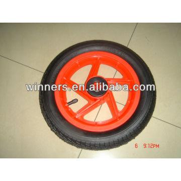 "12x2"" pneumatic wheel (plastic wheel rim with rubber tire)"