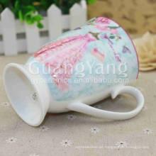 Tamaño modificado para requisitos particulares Porcelana de la porcelana esmaltada color sensible que cambia las tazas