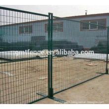 Clôture temporaire galvanisée à chaud et chaud / clôture temporaire canadienne galvanisée / clôture temporaire enrobée de poudre