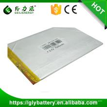 OEM de la batería del polímero de 3.7v 7000mah li
