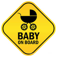 Reflective Diamond shape Baby On Board Magnet Sticker