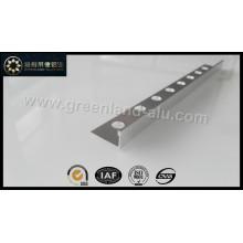 Glt108 Alumínio Quadrado Ângulo Canto Borda Tile Trim Prata Brilhante