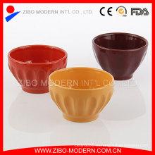 Tazones de fuente de helado de cerámica para el verano, comiendo el tazón de fuente