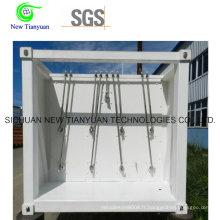 Semi-remorque à conteneur à haute pression à gaz naturel comprimé
