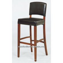 Hand wooden high PU bar stool chair XYH1005