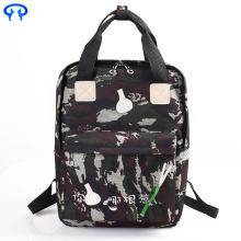 Travel canvas notebook backpack with zipper