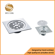 Chrome Plated Brass Bathroom Floor Drain Shower Drainer