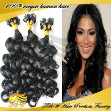 Haute Qualité Pas Cher Indien Micro Anneaux Boucle Kinky Extensions de Cheveux