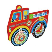 Nouveau jouet horloge calendrier en bois de mode pour les enfants et les enfants