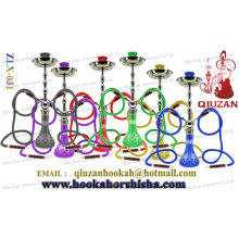 Double Hose Large Colored Vase Arabian Shisha Hookah