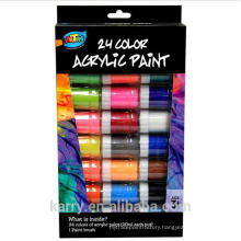 Non-toxic Acrylic Paint 24 Colors(20ml) For Children's Drawing