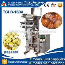 Plastic bag automatic popcorn packing machine for puffed food company