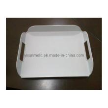 Molde de plástico de bandeja de servicio de café elegante blanco