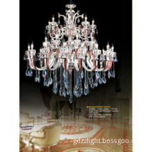 Double color crystal pendant lamp in luxury style