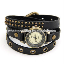 Blue Brown Red Black Simple Design Lady Leather Bracelet Watch 25g 550x7mm High Quality gift 110401103