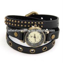 Синий Коричневый Красный Черный Простой дизайн Lady Leather Bracelet Watch 25g 550x7mm Высокое качество подарок 110401103
