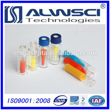 Fabrikverkauf Glaseinsatz für 2ml Durchstechflasche 9-425 Autosampler-Durchstechflaschen mit Teflon-Silikon-Septa