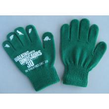 10g Acrylic Green Single Color Fashion Work Glove