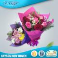 Papel no tejido de la tela del papel de envoltorio del ramo de la flor fresca no tejida de Corea para envolver la flor
