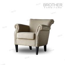 Nouveau design 100% polyester tissu capitonné velours fauteuil fauteuil
