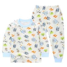 Kids Algodão manga comprida Underwear conjuntos