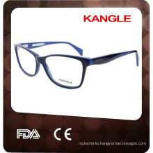Fashion blue new shape acetate optical frames for Lady, acetate eyeglasses