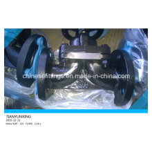 Фланцевый концевой стальной Pfte / EPDM футерованный мембранный клапан
