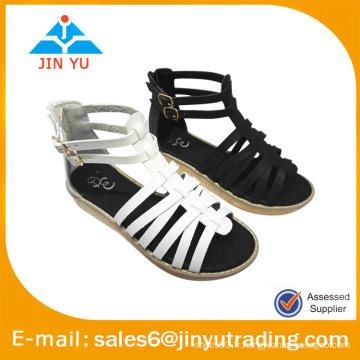 Sandales à glissière sandale à la cheville PU