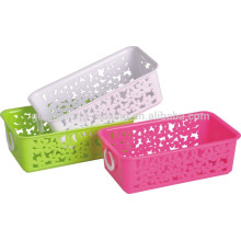 Eco-friendly PP material storage plastic utility basket with handle