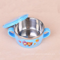 food grade stainless steel dinner sets baby bowl with spoon and fork