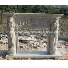 Natural Stone Marble Fireplace Surround Figures (SY-MF203)