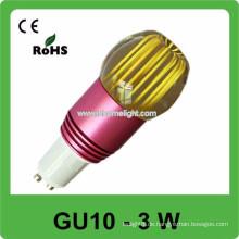 CE & ROHS 3w AC 85v-265v RGB gu10 Deckenspot Beleuchtung, 3 Jahre Garantie