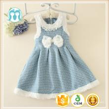 100% coton de haute qualité à bas prix robe de fête d'enfants de la robe d'hiver de Chine fille