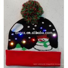 17PKCB001 2017 Weihnachtsmütze mit LED-Leuchten