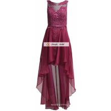 2017 nouvelle mode mousseline demoiselle d'honneur robe sans manches