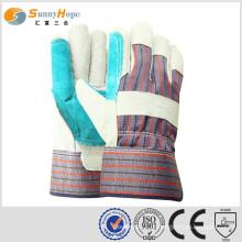 Sunnyhope couro luvas de trabalho luva de solda de couro luvas de couro barato
