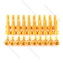 Vis en aluminium de tête de prise de la vis M3 Torx de haute précision d'attaches / boulons
