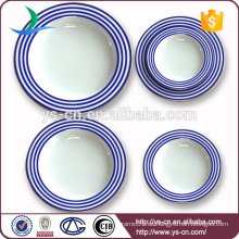 Fabrik direkt Großhandel Runde weiße Porzellan Platten