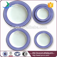 Fabrique directe en gros de plaques rondes en porcelaine blanche