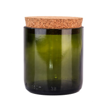 300ml cutting aromatherapy candle green glass jar candle holders