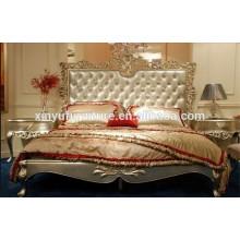 Muebles de dormitorio de estilo francés con acabado en oro BD8016