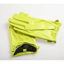 Lady Fashion Sheepskin Leather Dress Driving Gloves (YKY5074)