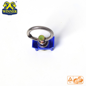 Racor simple con anillo redondo de acero inoxidable
