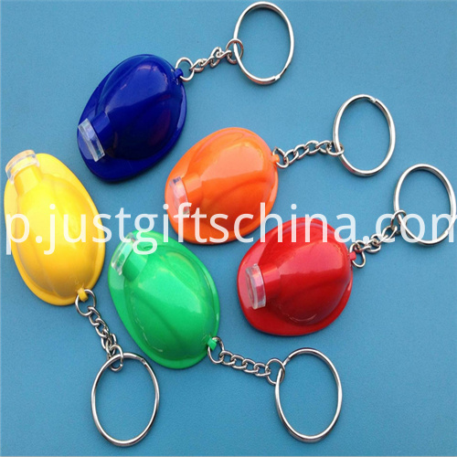 Promotional Led Plastic Key Chain Helmet1