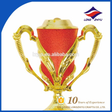 Top grade red color gold trophy cup with super quality