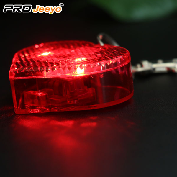 LED Hi Vis Safety Children School Bag Red Keychain RB-501D 4