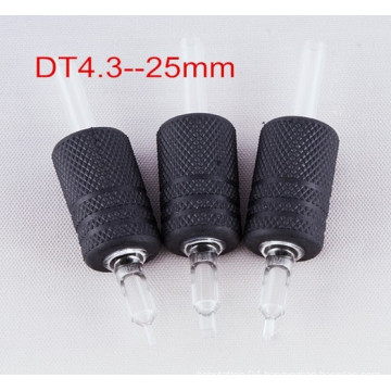Top High Quality Black Rubber Disposable Tattoo Grip with Clear Tip