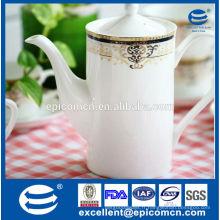 Bouilloire en céramique de haute qualité, pot de thé en porcelaine en gros